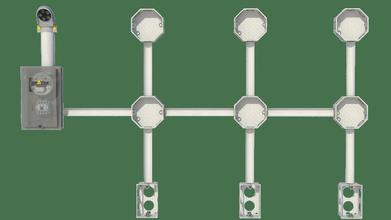 Conexi n e instalaci n de un circuito en paralelo - Tuberia para instalacion electrica ...
