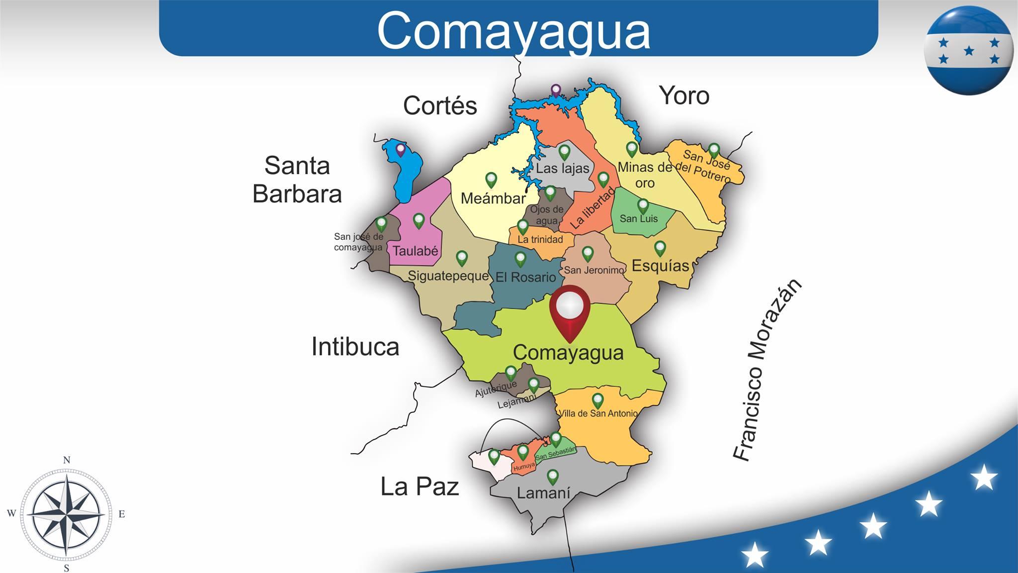 Mapas Por Departamento De Honduras Colecci 243 N 2
