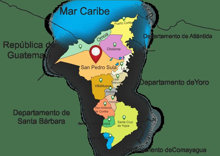 Mapas Por Departamento de Honduras